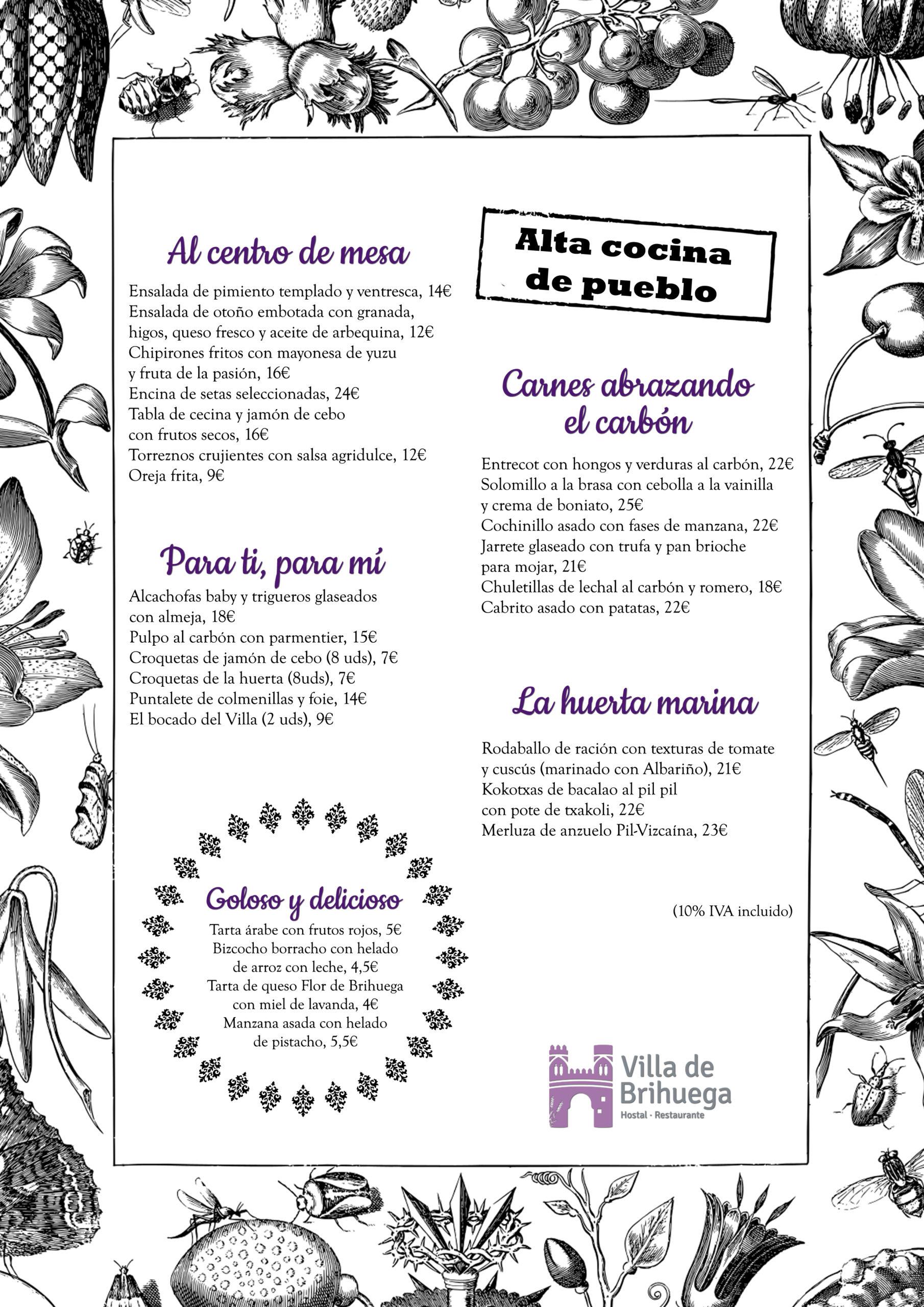 Carta otoño/invierno Villa de Brihuega.