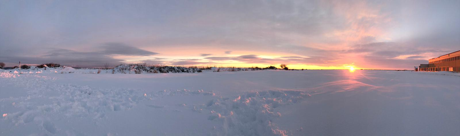 panorámica Brihuega nevada