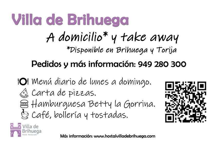 Restaurante Villa de Brihuega a domicilio y take away.