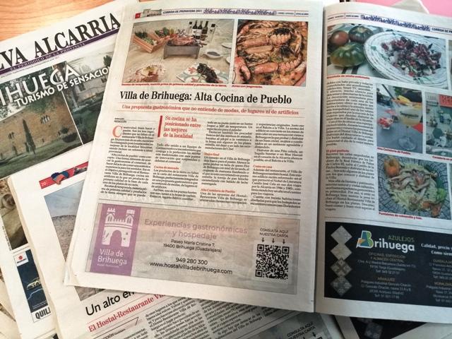 Hostal-Restaurante Villa de Brihuega en los medios.